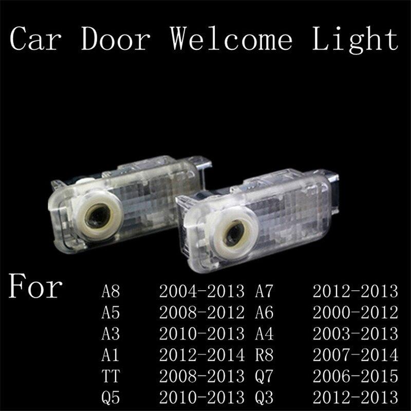 LED Door Warning Light With audi Logo Projector For Audi A5 A6L A6 C5 A4L A4 B6 B8 A1 A8 TT Q7 Q5 Q3 A3 R8 RS S line<br><br>Aliexpress