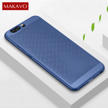 MAKAVO For Huawei Honor 9 Case 360 Matte Skin Fundas Hard Plastic Housing Slim Hollow Back Cover Honor9 Phone Cases