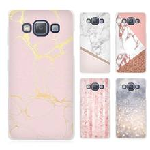 Stalactite Pink Marble glitter Clear Transparent Cell Phone Case Cover for Samsung Galaxy A3 A5 A7 A8 A9 2016 2017