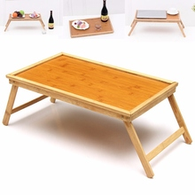 Foldable Wooden Bamboo Bed Tray Breakfast Laptop Desk Tea Serving Table Stand New Laptop Stand Holder Notebook Cooler Cooling(China)