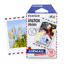 High Quality Genuine Fuji Fujifilm Instax Mini 8 Film 10 Sheets Air Mail For 8 50s 50i 7s dw 90 25 SP-1 Mini Instant Cameras