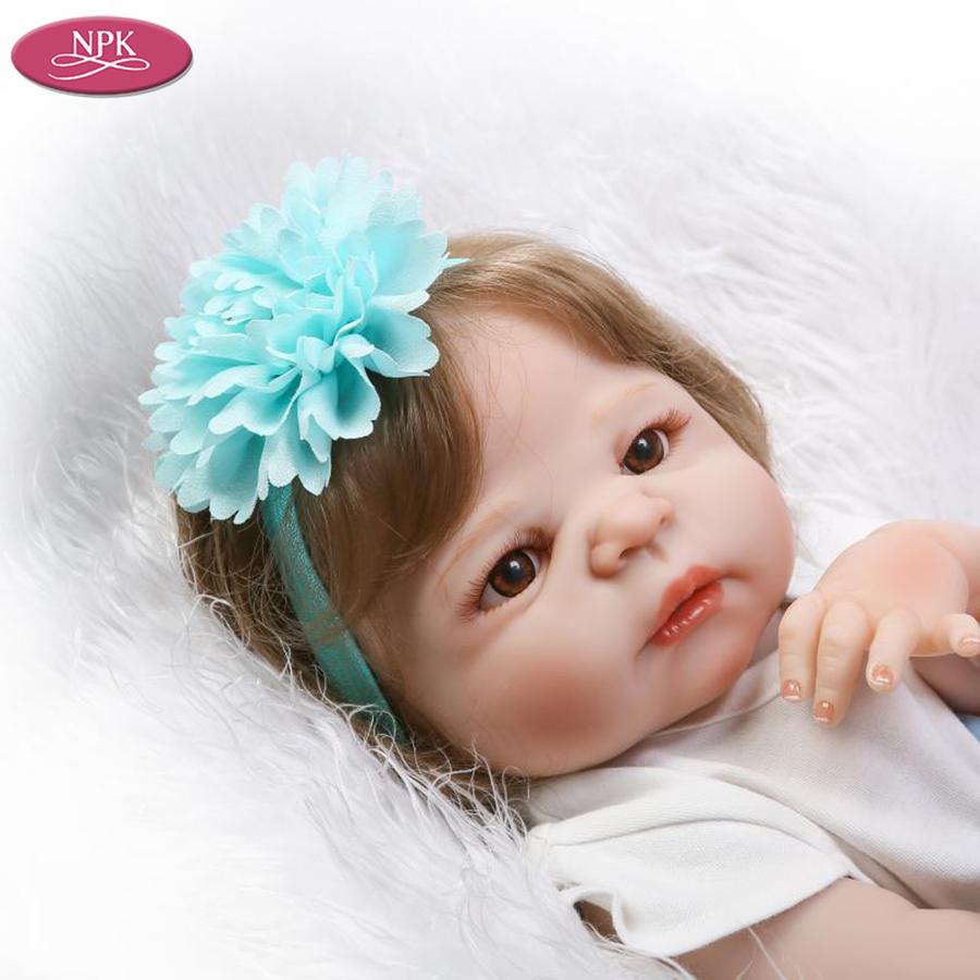 NPK 57CM Full SIlicone Vinyl Body Reborn Babies Children Bathe Doll Toys Lifelike Real Baby Girl Realista Bebe Reborn Bonecas (6)