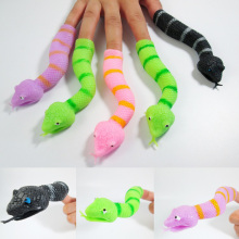 Funny Trick Joke Toys Snake Plastic Candy Gags & Practical Jokes Toy For Children Kids Halloween Gift 12Pcs/Lot