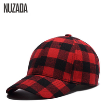 Brand NUZADA Spring Summer Cap Hip Hop Hats Snapback Bone Baseball Caps For Women Men Grid Cotton Internal Double Layer(China)