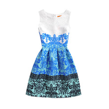 Summer Dress 2017 Dresses For Girls Of 12 Years Old Costumes For Kids Children Dresses Top Quality Pattern Floral Cheap Children