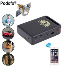 Podofo Remote Positioning Tracker Support Quad Band Stable GPS Tracker TK102B Vehicle Car GPS Tracker(Hong Kong)