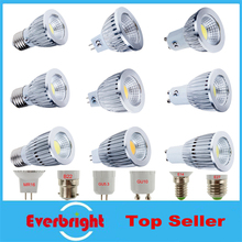 Super bright COB GU10 Led 5W 7W 9W Led Light Bulb 60 angle dimmable E27 E14 GU10 MR16 LED Spotlight Warm White Cool white