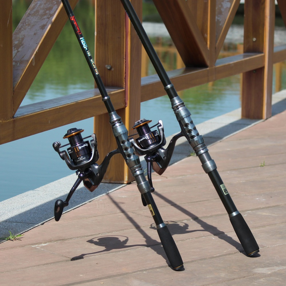 Sougayilang 1.8-3.6m Telescopic Fishing Rod and 14BB Spinning Fishing Reel Wheel Portable Fishing Rod Spinning Fishing Rod Combo<br>