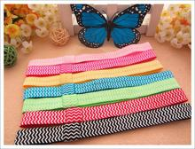 30 pcs/lot , Chevron Elastic Headband Elastic Headband Stretchy Girls Headband