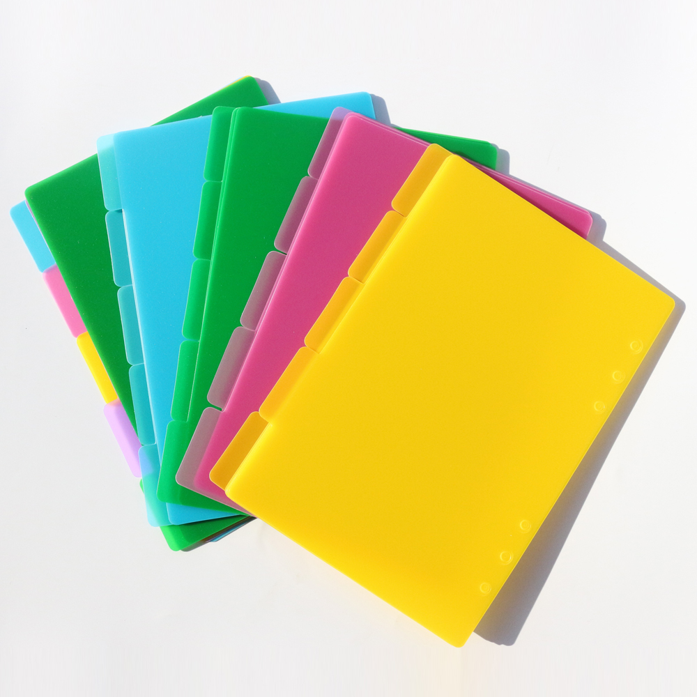 Plastic Cover Organiser Book 8 x ASSORTED COLOUR A6 SPIRAL NOTEBOOK Memo Pad