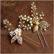 Free Shipping Handmade Beads and Crystal Wedding Hair Bobby Pin Hairpins for Bridemaid Hair Accessories