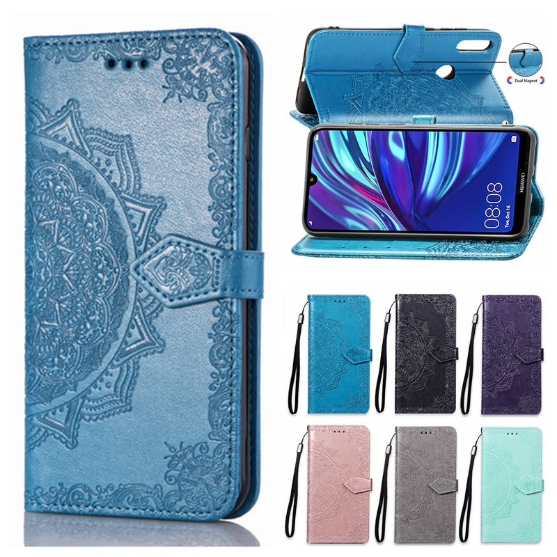 Thoankj For Huawei Y6 2019 Case Honor 8A Case Flip Shockproof Bling Glitter PU Leather Wallet Phone Case 3D Animal Art with Stand Magnetic Gel Silicone Bumper Slim Protector Cover Butterfly