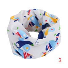Baby Bibs Winter Boys Girls Love Heart Cartoon Cute Scarf Cotton O Ring Collars Children Accessories Neckerchief Scarves LM57