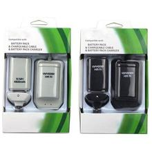 New High 2 Batteries+1 Charger+1 Usb Cable For Xbox 360 Wireless Controller Rechargeable 4800mah Ni-MH Battery Pack
