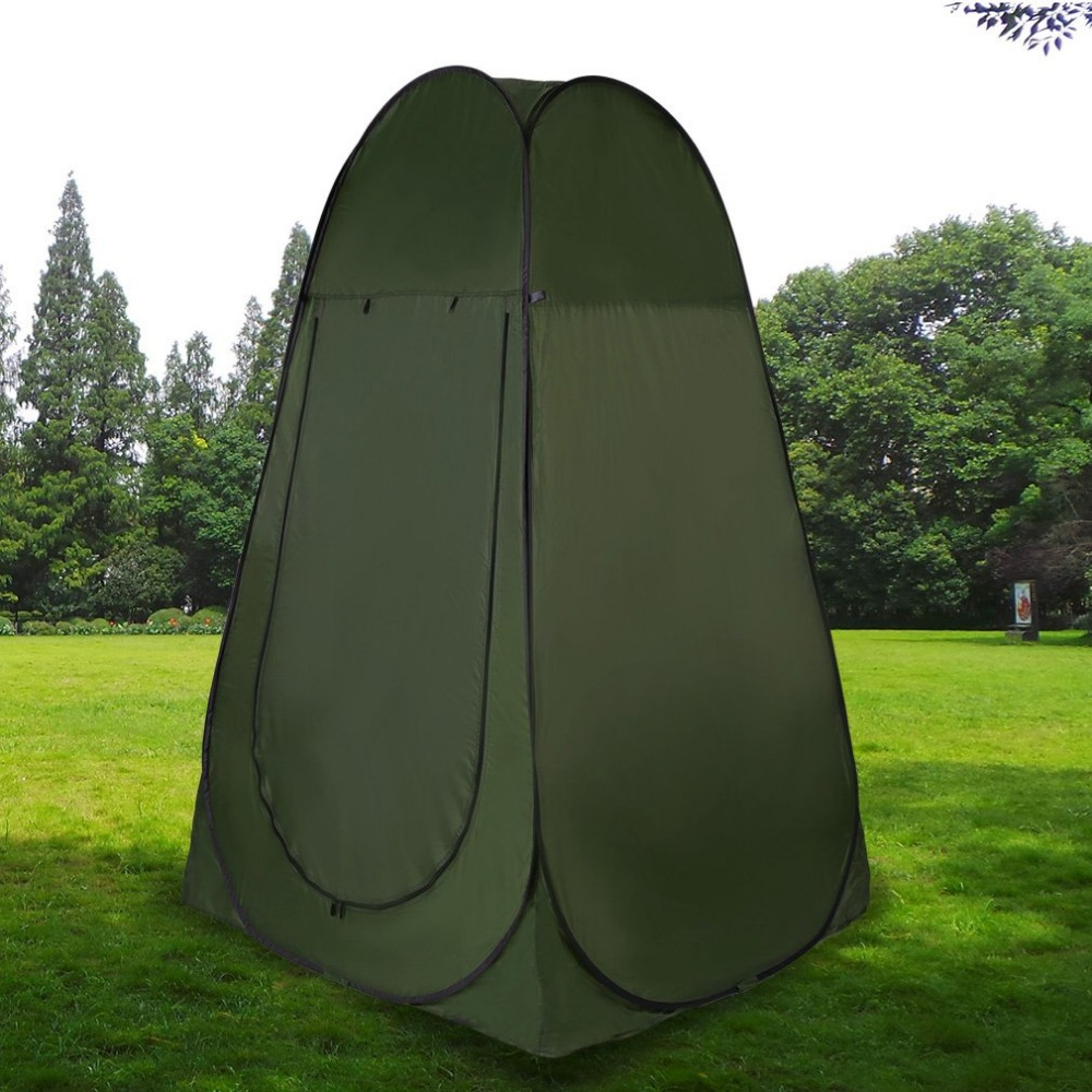 Portable Outdoor Pop Up Tent Camping Shower Bathroom Privacy Toilet Changing Room Shelter Single Moving Folding Tents Free Ship<br>