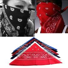 1Pcs Womens and Mens Paisley Bandana HeadWrap Hair Wrap Double Side Print Cotton Scarf Headband Hiphop Soft Hair Band