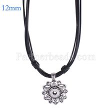New Fashion Metal Snap Necklace snap jewelry fit 12mm mini snap buttons jewlery wholesale necklace charms for women KS0982-S(China)