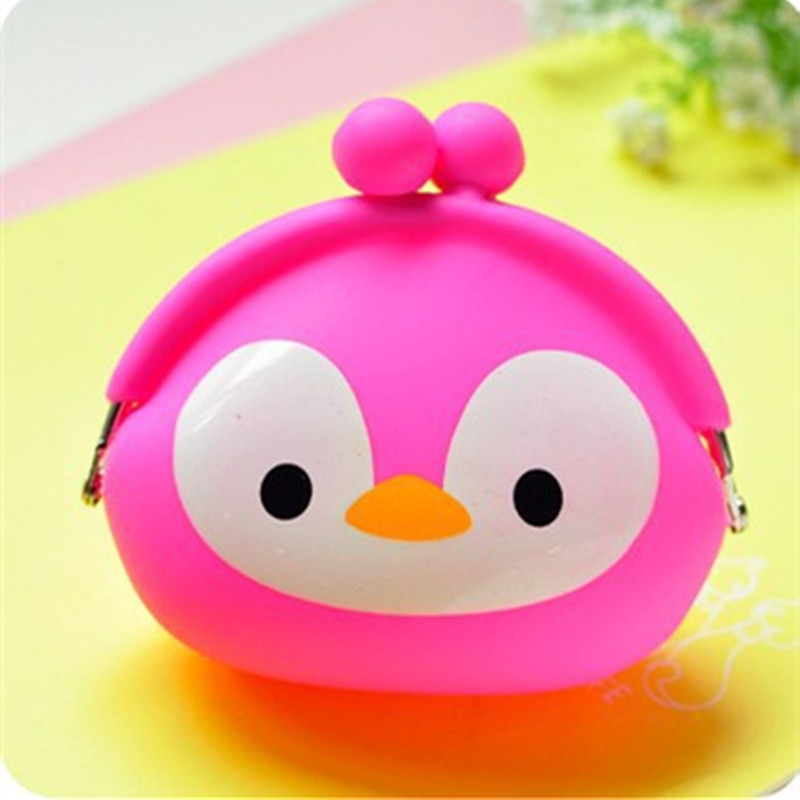 Korean Candy Colored Girls Coin Bags Women Key Wallets Cute Cartoon Silicone Mini Coin Purse Children Kids Gifts ZH184-3<br><br>Aliexpress