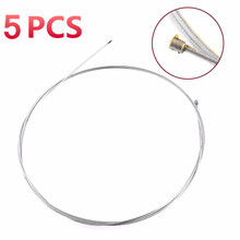 5 PCS Road Bike 2M Inner Steel Wire Silver Shift Shifter Speed Change Gear Brake Cable Line Wire Cable Sets For MTB Bike Bicycle(China)