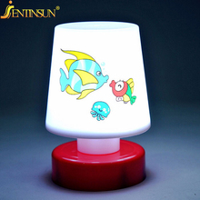 New Kids Gift Mini Cartoon LED NightLights Small Cute Pat Fish Cat Light Table Lamp Colorful Led Night Light For Children Girls(China)