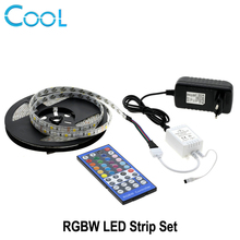 LED Strip 5050 RGBW / RGBWW 5M 60LEDs/m Flexible Tape Light + 40Key IR Controller + DC 12V 3A Power Adapter Sets