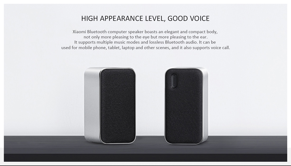Original Xiaomi Bluetooth Computer Speaker 12W 2.4GHz Double Bass Basin Stereo Portable Aux DSP With Microphone LED Indicator