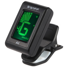 A2 Mini Guitar Tuner Clip-On Automatic Digital Tone Tuner LCD for Acoustic Electric Guitar Bass Chromatic Violin Ukulele