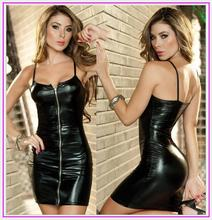 Buy New Sexy Women PVC Leotard Erotic Wetlook Faxu Leather Latex Zip Bodysuit Pole Dance Fetish Dress Nightclub Catsuit Costume
