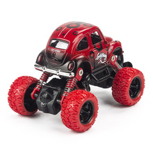 Mini Alloy Metal Diecast Car Baby Toys Kids 1: 36 Scale Pull Back Beetle Beat-up Car Model Vehicle Toy for Children Boy Gift(China)