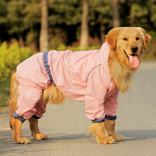 XS-4XL Dog Raincoat Small Large dogs Full-size Coat Thick Golden Pink Blue Clothes Waterproof Custume Rainwear Rain-Proof F-YY(China)