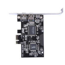 PCI Express x1 PCI-E FireWire 1394a IEEE1394 Controller Card with 2x 1394a 1x 1394a port for Portable Hard Disk, DV Camcorder