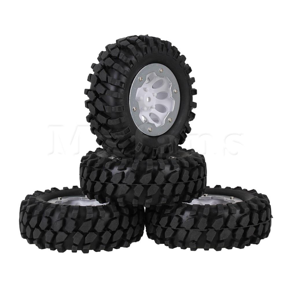 Mxfans 4pcs RC1:10 Rock Crawler Gravel Rubber Tyre +10 Hole Wheel Rim Beadlock<br><br>Aliexpress