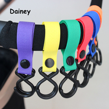 High Quality Convenient Plastic Baby Stroller Accessories Pram 2 Hooks Pushchair Car Hanger Hanging Strap 18 Color CPJ19(China)