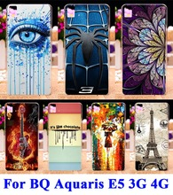 Colorful Painted Mobile Phone Cases Covers For BQ Aquaris E5 Housing 3G 4G Version Shell Hood Skin Hard Plastic Shield Case(China)