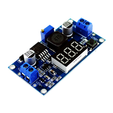 Free shipping! LM2596 LM2596S power module + LED Voltmeter DC-DC adjustable step-down power supply module with digital display