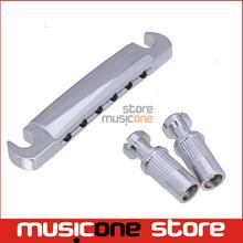 Chrome Tune-O-Matic Electric Guitar Tailpiece and Studs For GB LP Style Guitar Parts