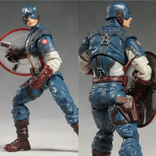 Marvel Super Hero Series the Avengers Captain America 20cm Action Figure PVC Model Collectible Toy(China)