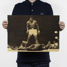 Buy Boxing champion Ali-Haj/sport poster/kraft paper/bar poster/Retro Poster/decorative painting 51x35.5cm for $1.39 in AliExpress store