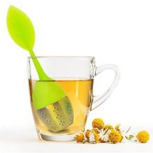 Buy 3 Pcs Green Leaf Tea Infuser Loose Tea Leaf Strainer Herbal Spice Filter Diffuser Handle Steel Ball Silicone Lid Smart Life for $3.60 in AliExpress store