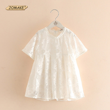2017 Newest Summer Cute Lace Baby Girls Dress Korean Style Trendy And Retro Princess Dresses Kids Clothes Children's Costumes