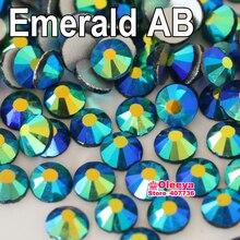 Все размеры 3d Дизайн ногтей изумруд AB Flatback не исправление горный хрусталь свободные камень свадебное платье DIY Гвозди y3120(China)