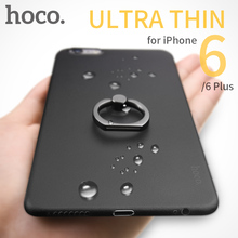 HOCO Thin Ring Case Metal Finger Holder Stand for Apple iPhone 6 6S PLUS Protective Matte Cover Frosted Shell for iPhone6 Mount