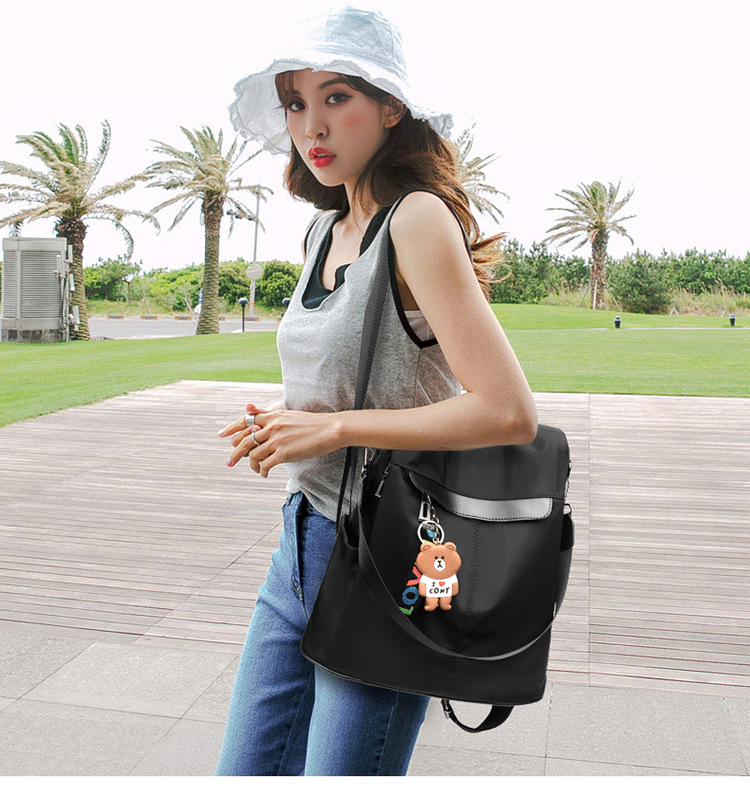 Large Capacity Backpack Women Preppy School Bags for Teenagers Female Oxford Travel Bags Girls Bear Pendant Backpack Mochilas 16 Online shopping Bangladesh