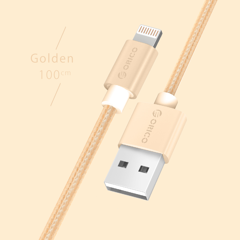 ORICO Fast Charging Data Cable for iPhone iPad Mini iPod Lighting to USB Cable Wire Lightning Cable 1M Cable