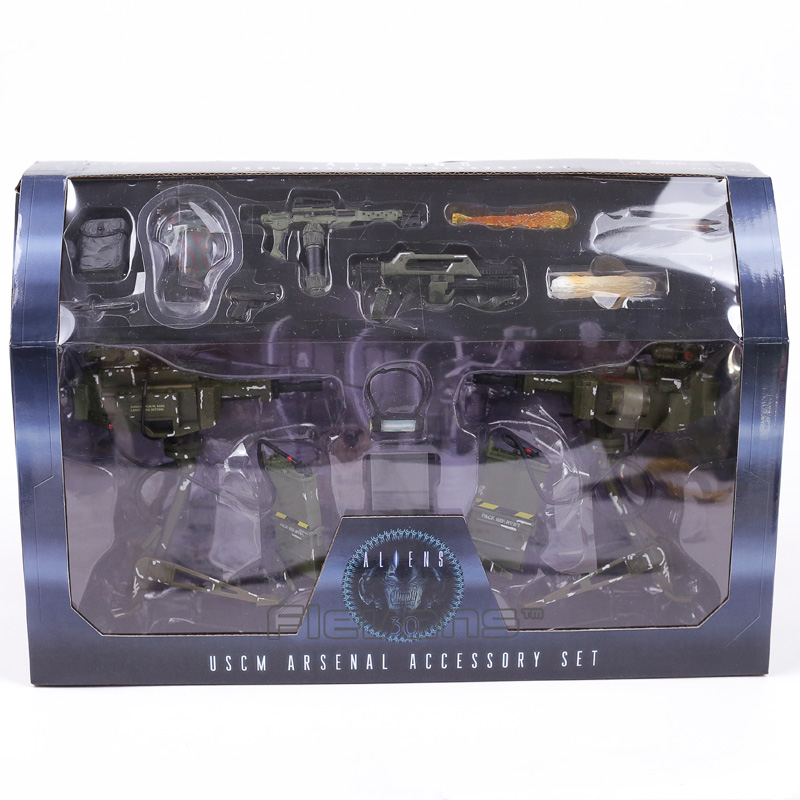 NECA ALIENS Uscm Arsenal Accessory Set PVC Action Figures Collectible Model Toys 14-pack<br>