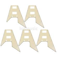 5 Pcs Guitar Pickguard For '67 Reissue Series Electric Guitar Flying V Replacement Cream