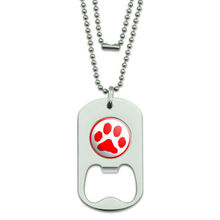 low price Dog Tag Bottle Opener Paw Print hot sales custom metal dog tag bottle opener cheap paw print bottle opener(China)