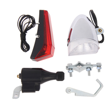 New Hot Sale Bike Cycling Dynamo Lights Set Safety No Batteries Needed Headlight Rear Light for All Bikes(China)