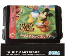 Game Cartridge - World oF Illusion Migkey Mouse & Donald Duck For 16 bit Sega MegaDrive Genesis Game console EUR/USA Case