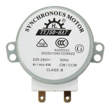 1 PC New  AC 220V-240V 50Hz CW/CCW Microwave Turntable Turn Table Synchronous Motor TYJ50-8A7 D Shaft 4 RPM  VEJ20 P20